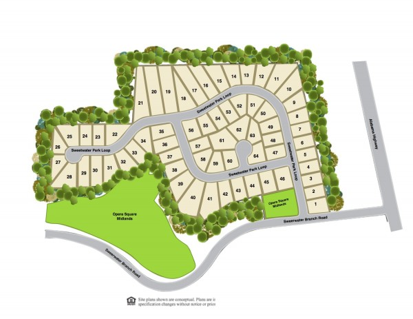 Sweetwater Park Site Map