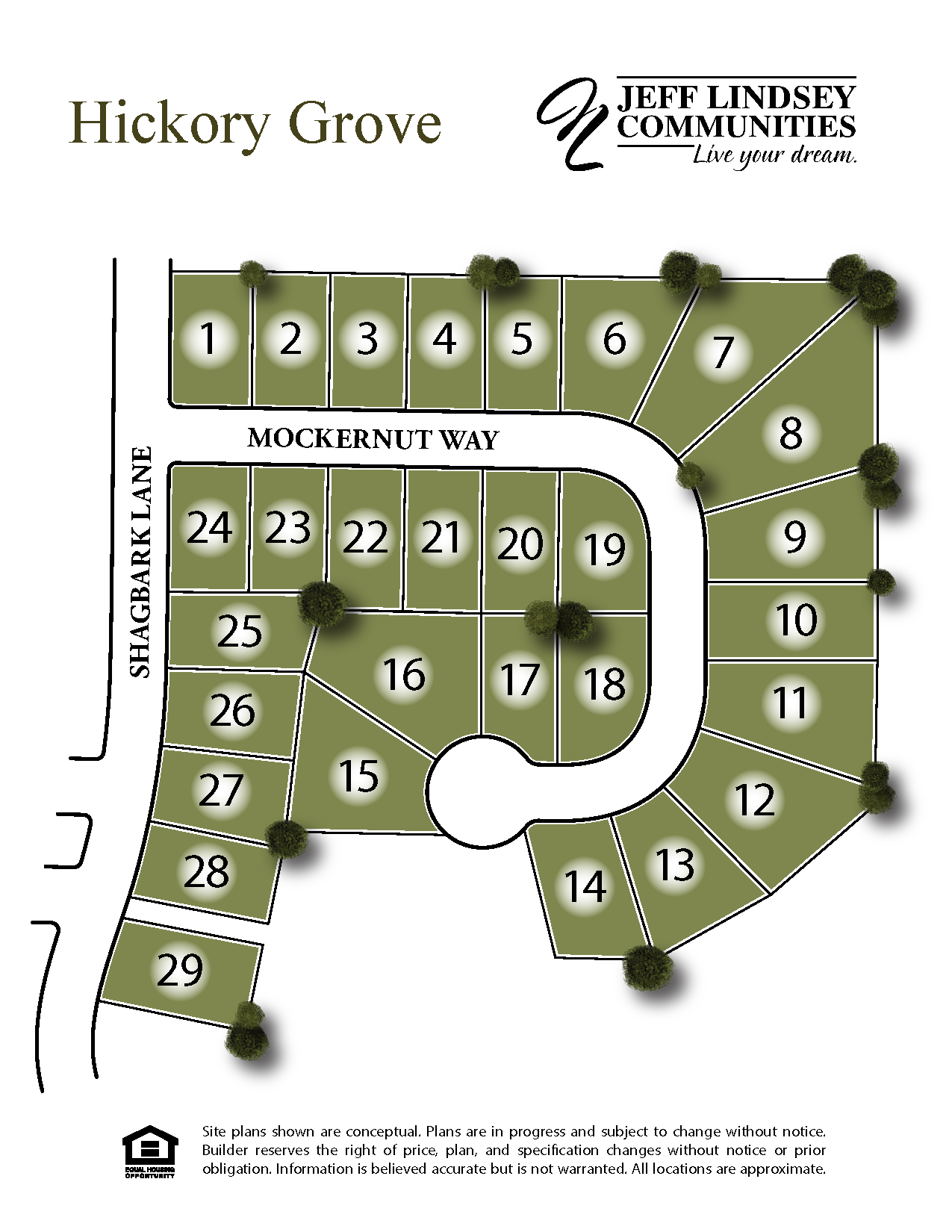 Hickory Grove Site Map