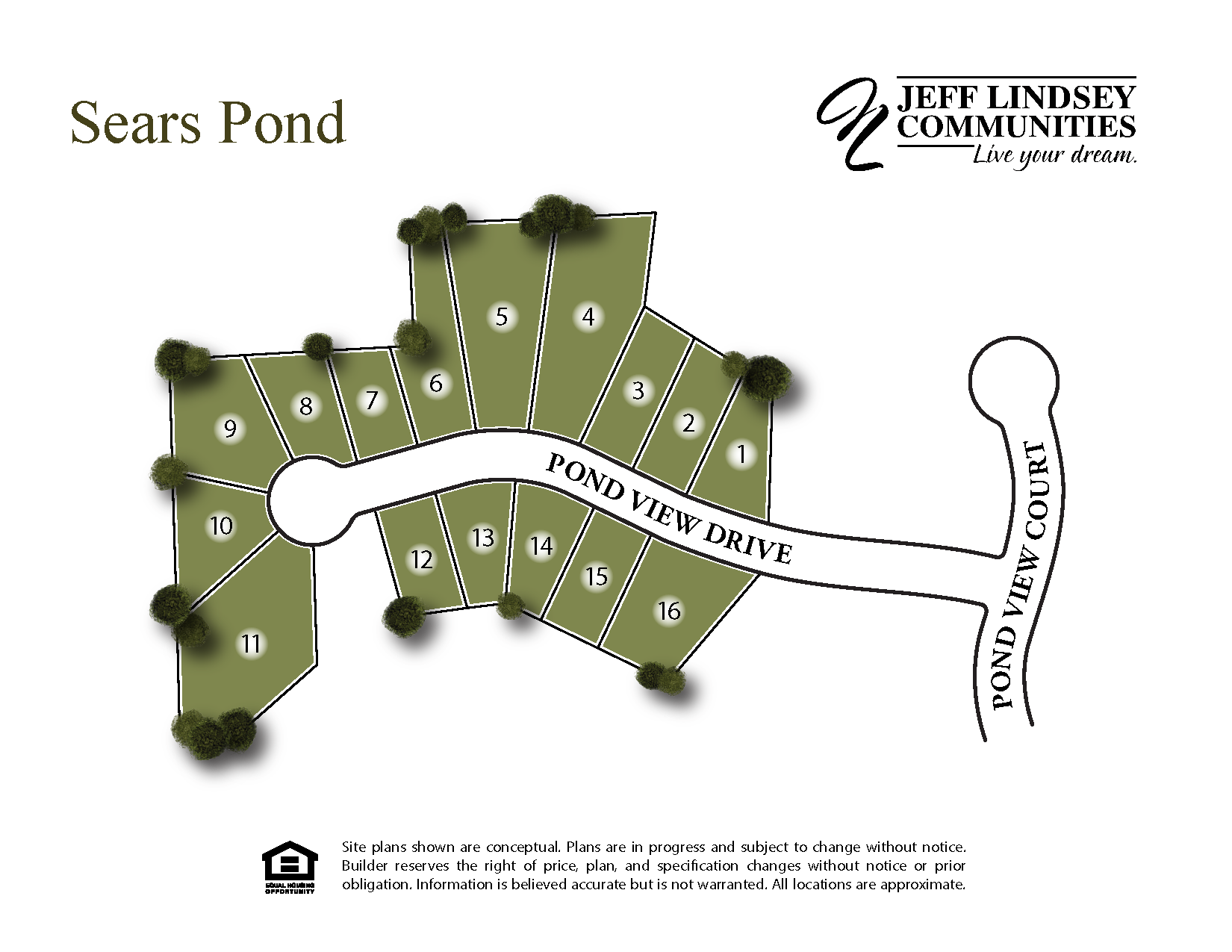 Sears Pond Site Map