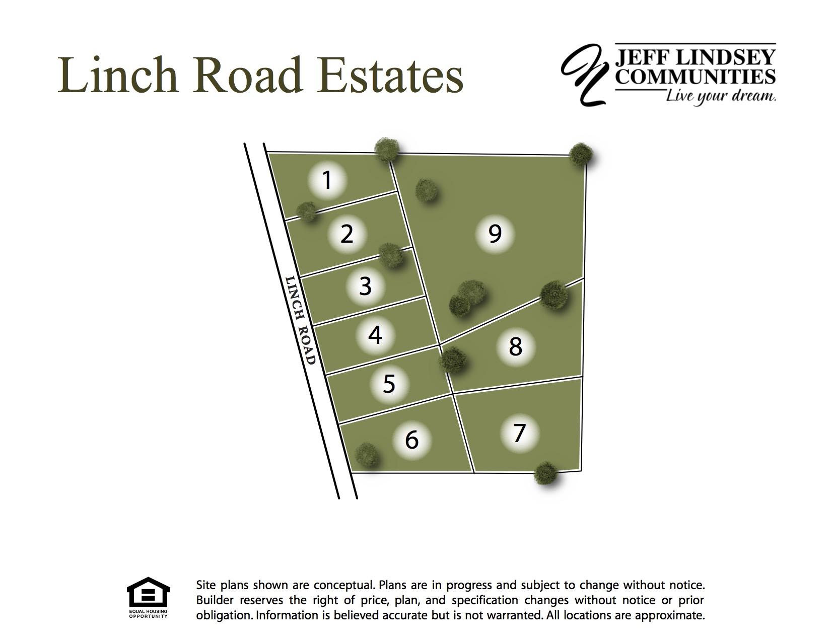 Linch Road Estates Site Map