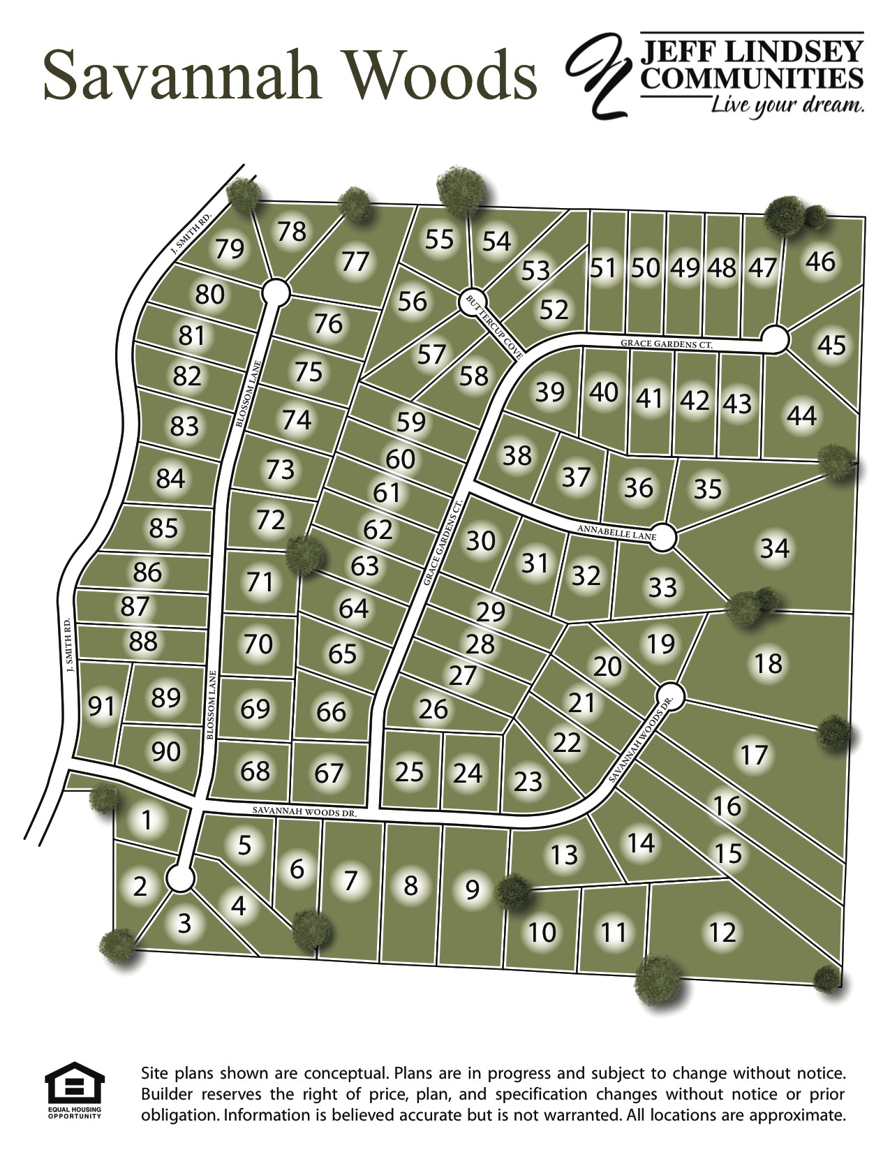 Savannah Woods Site Map