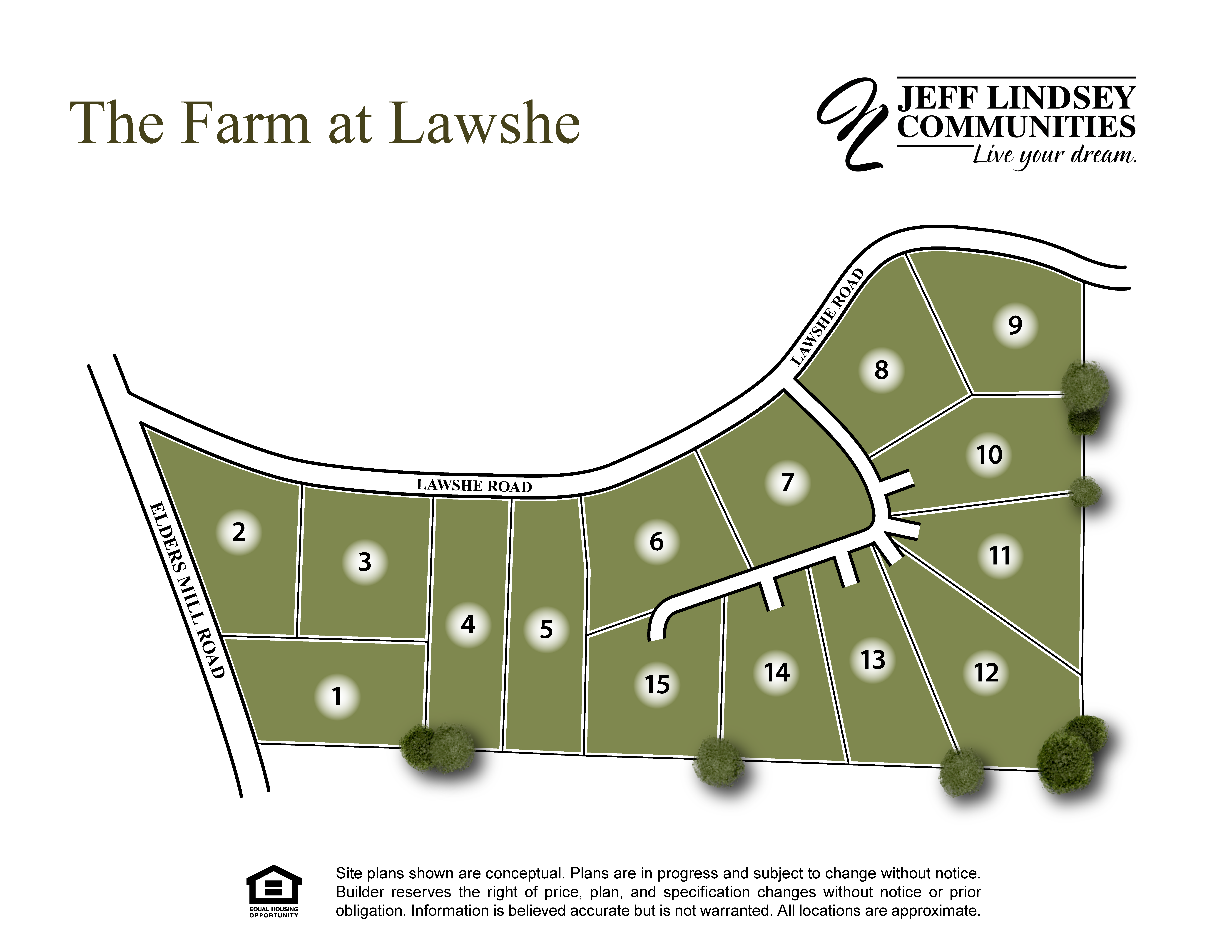 The Farm at Lawshe Site Map