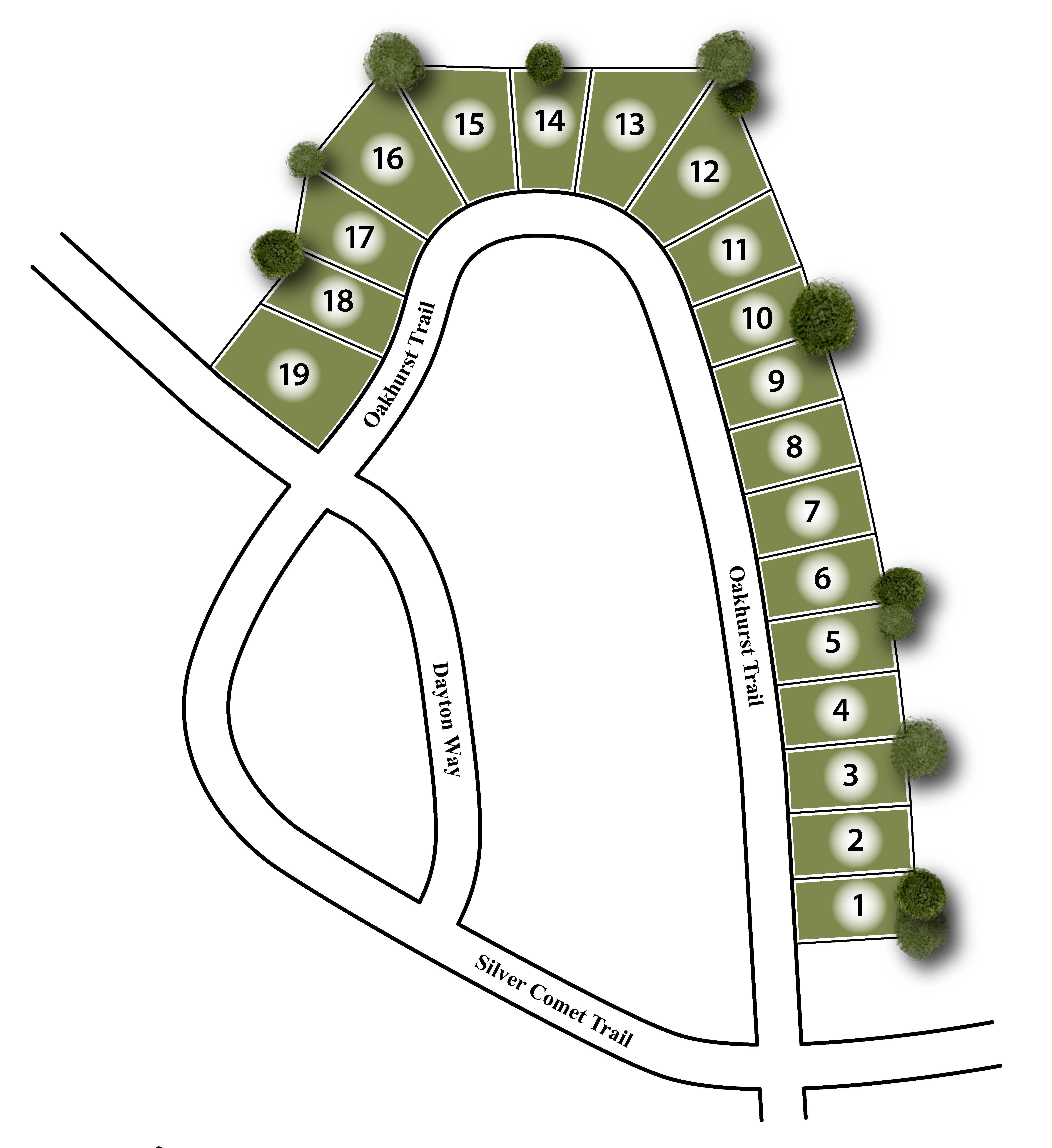 Twelve Parks Site Map
