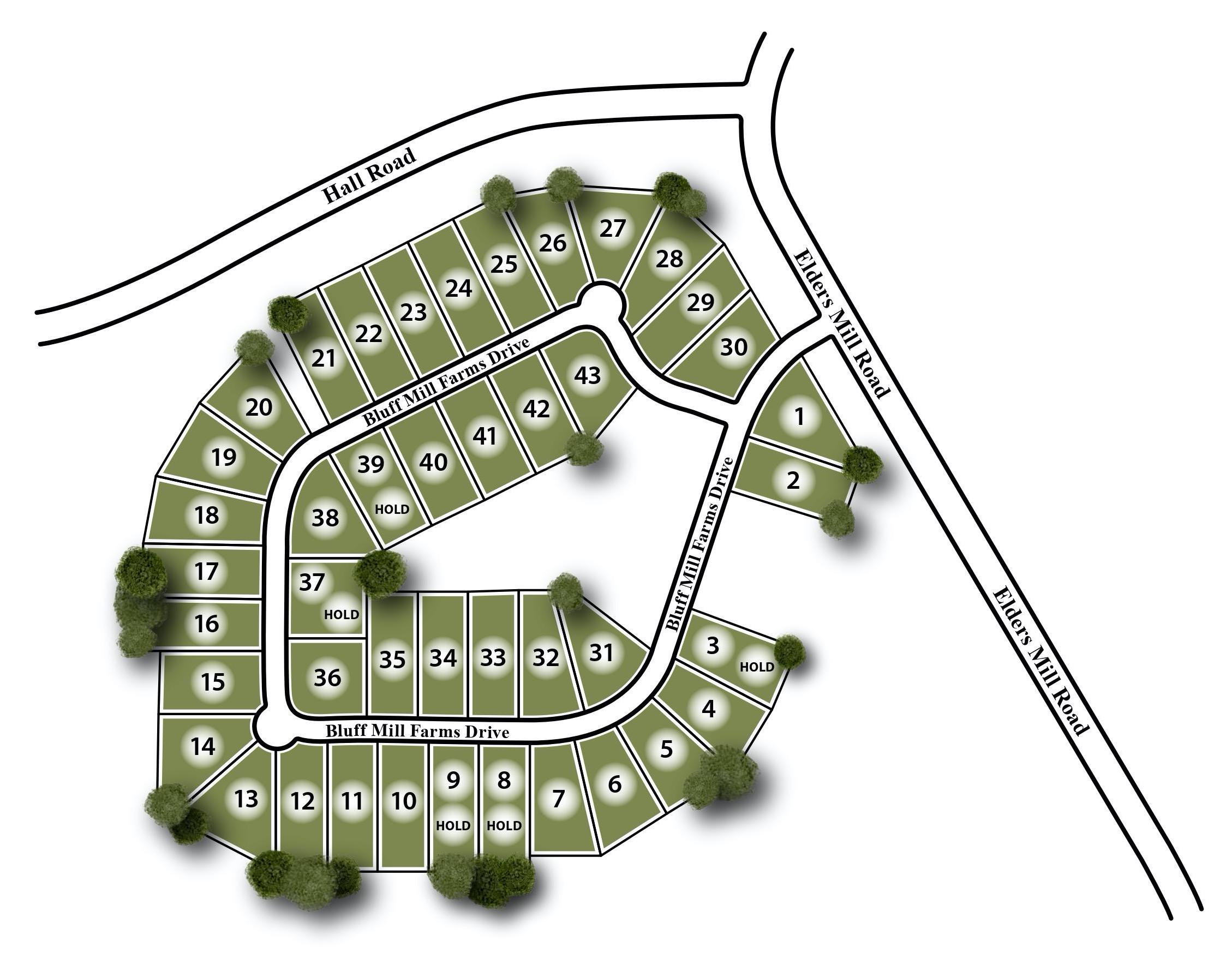 Bluff Mill Farms Site Map