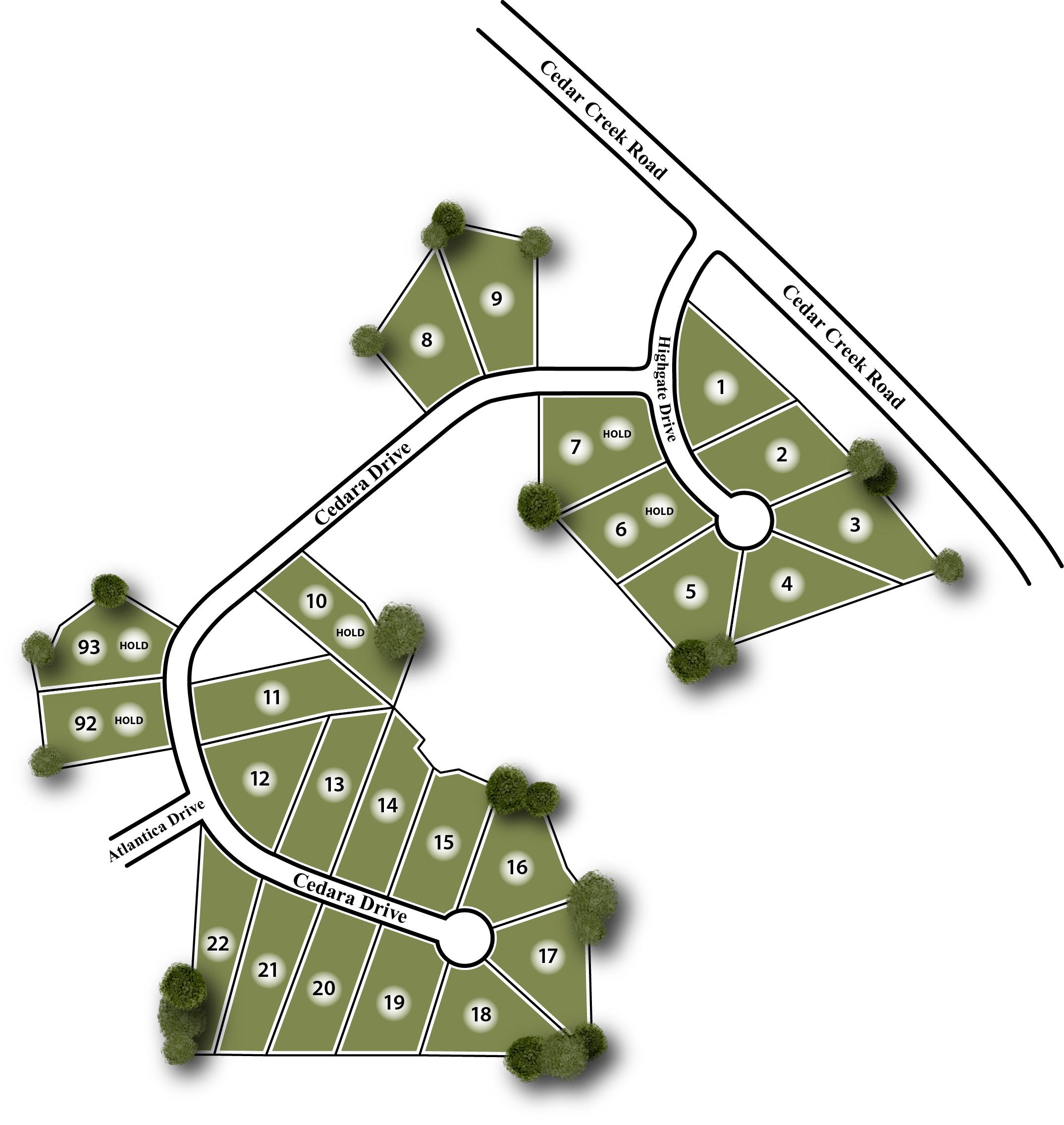 Highgate Site Map